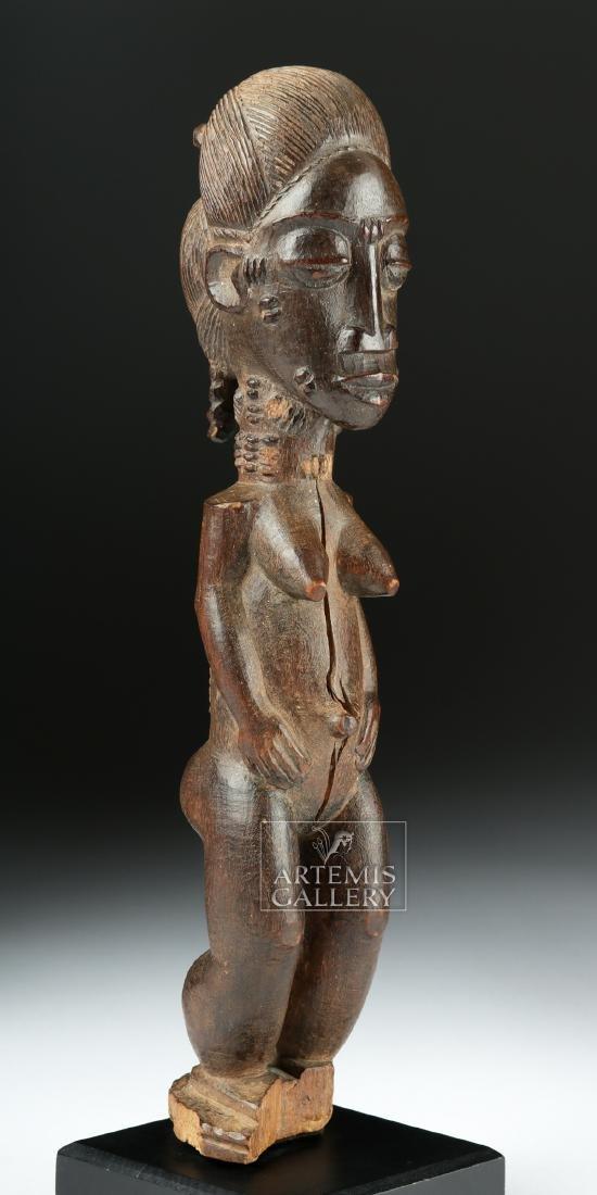 Late 19th C. African Baule Wooden Blolo Bla Figure - 3
