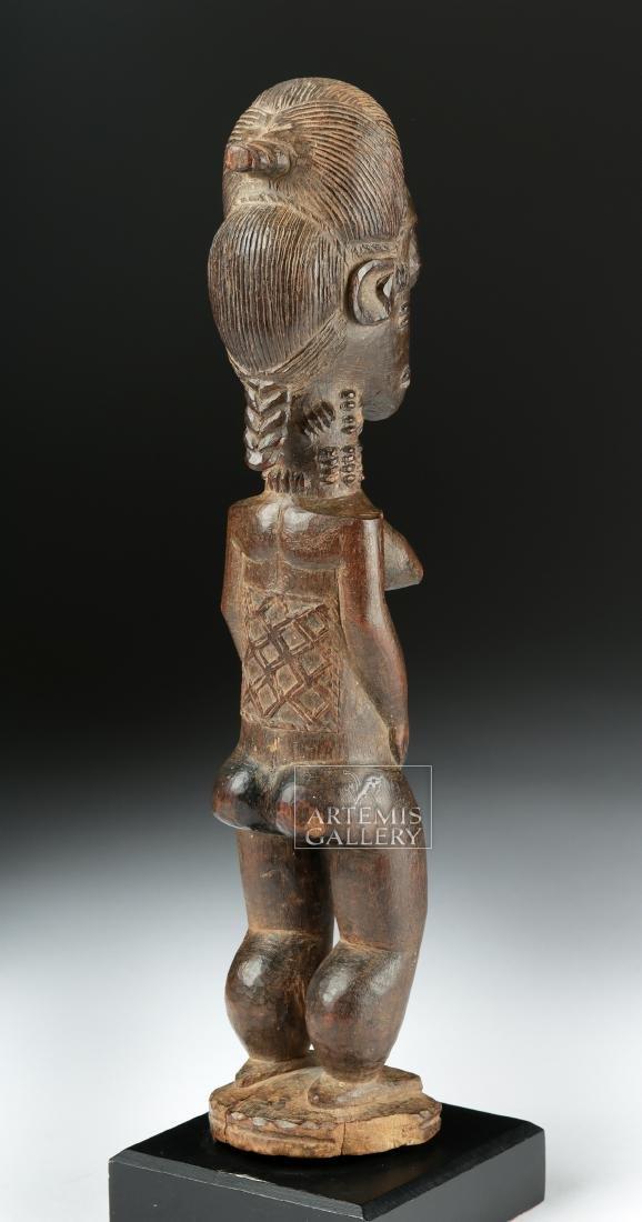 Late 19th C. African Baule Wooden Blolo Bla Figure - 4