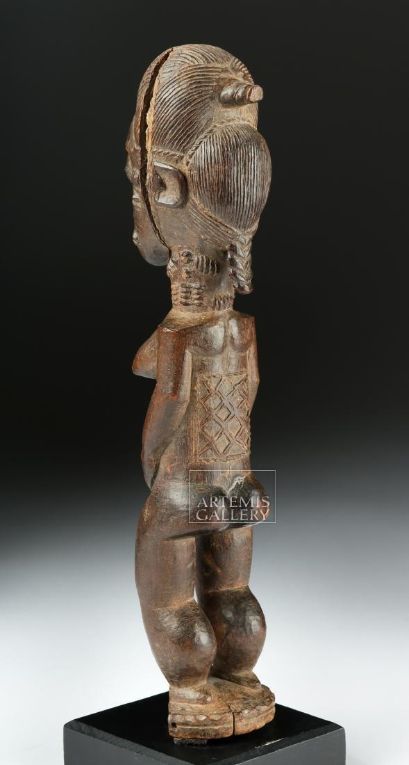 Late 19th C. African Baule Wooden Blolo Bla Figure - 5