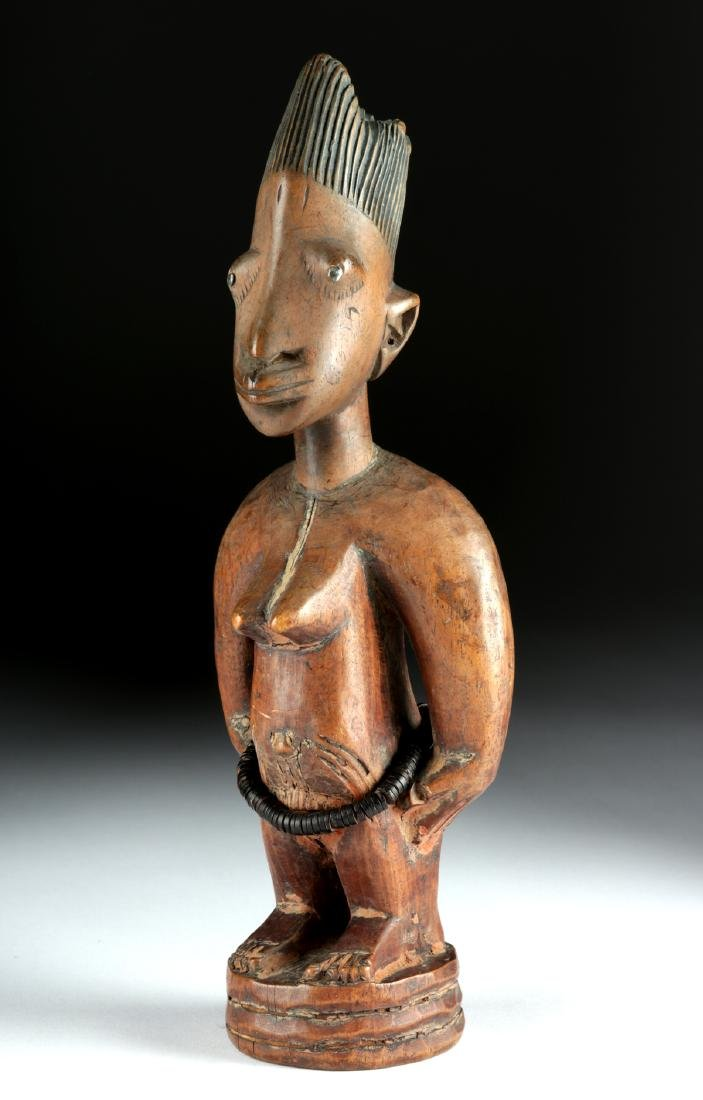 Early 20th C. Yoruba Wooden Female Ibeji, ex-Arnovick