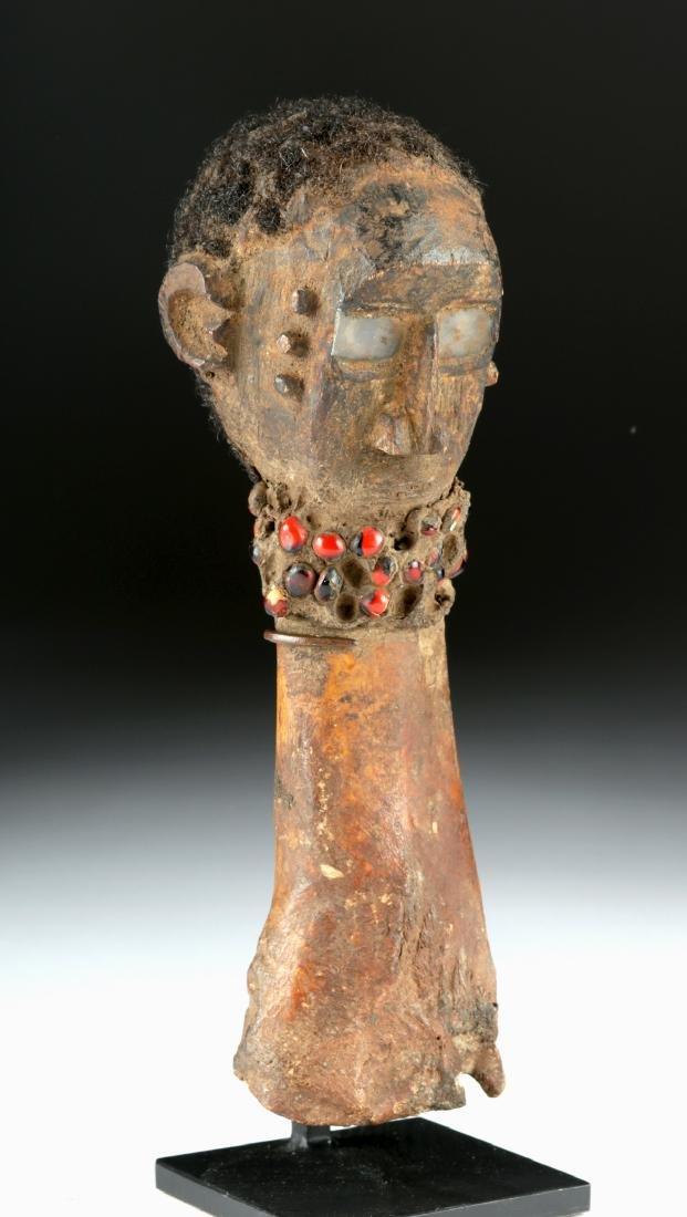 Early 20th C. Nigerian Tiv Bone & Wood Fetish