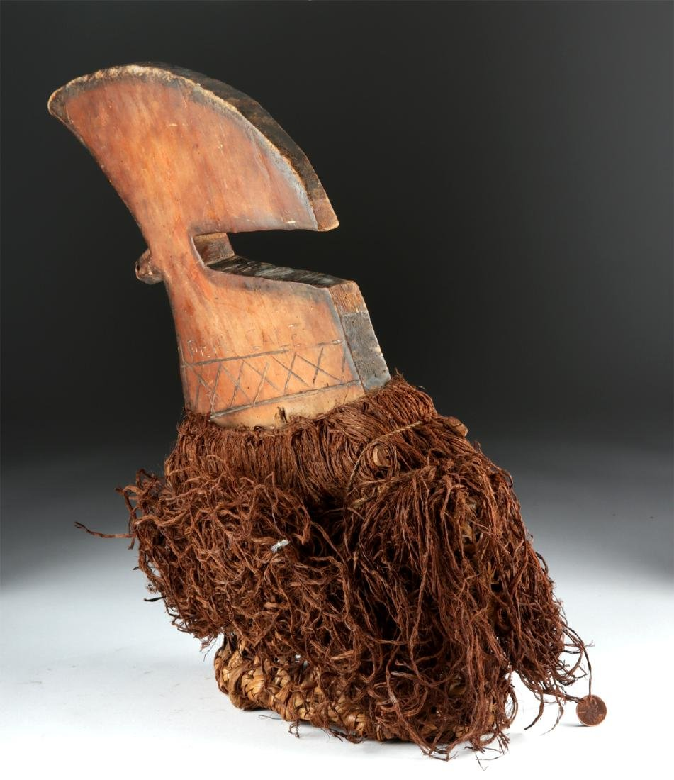 20th C. Democratic Republic of Congo Wood Budja Crest