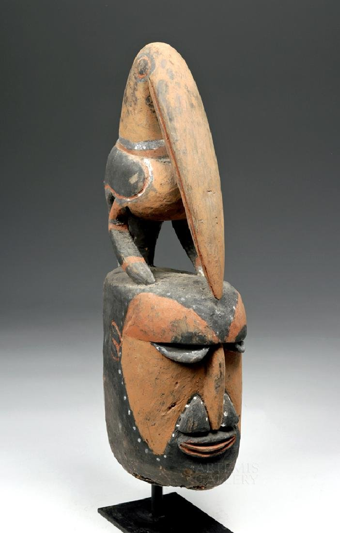 Important Large 20th C PNG Carved Yam Mask