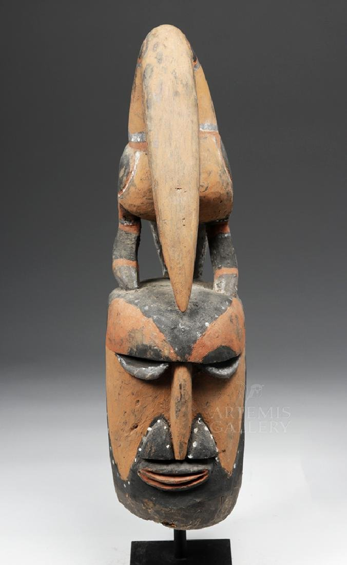 Important Large 20th C PNG Carved Yam Mask - 6