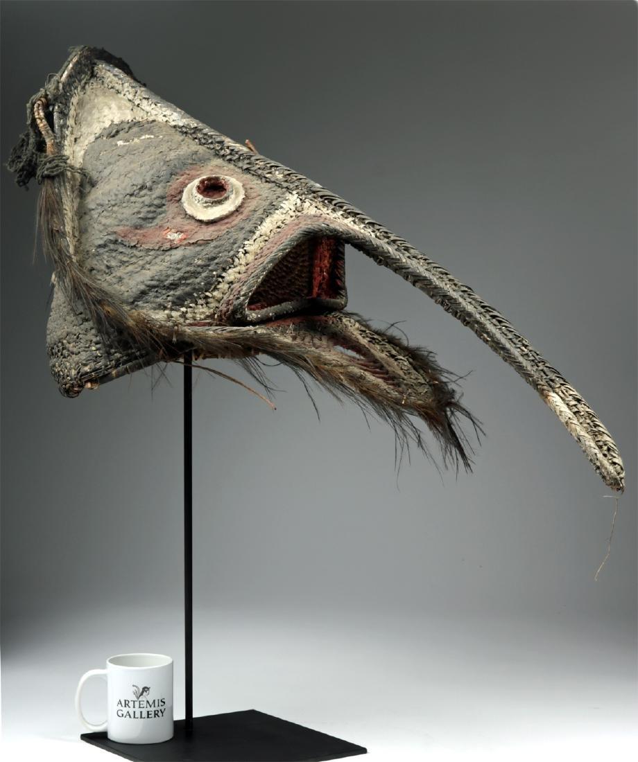 20th C. Papua New Guinea Maira Figure Fiber Mask