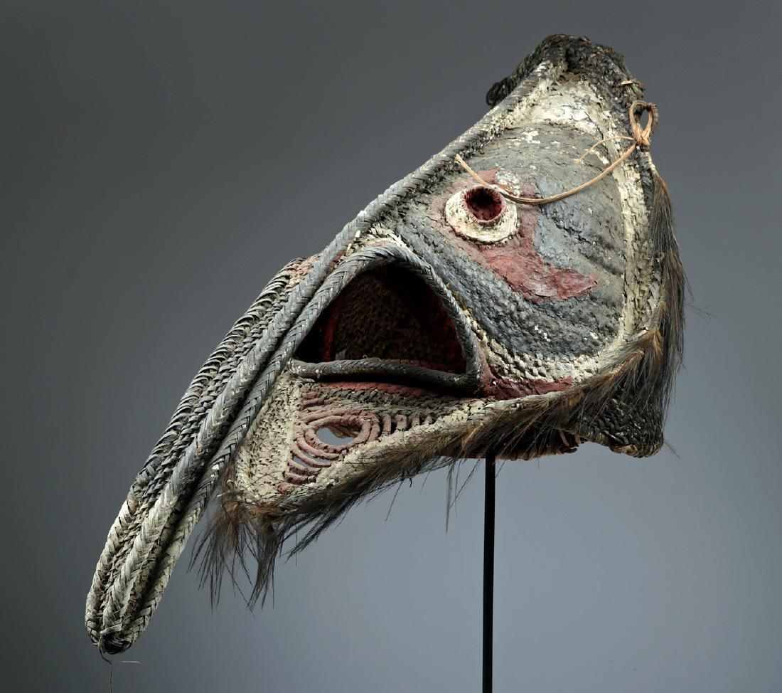 20th C. Papua New Guinea Maira Figure Fiber Mask - 2