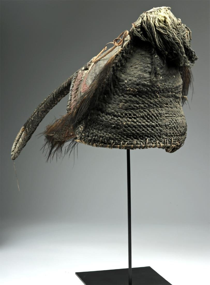 20th C. Papua New Guinea Maira Figure Fiber Mask - 3