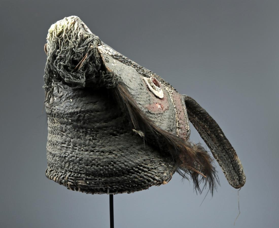 20th C. Papua New Guinea Maira Figure Fiber Mask - 4