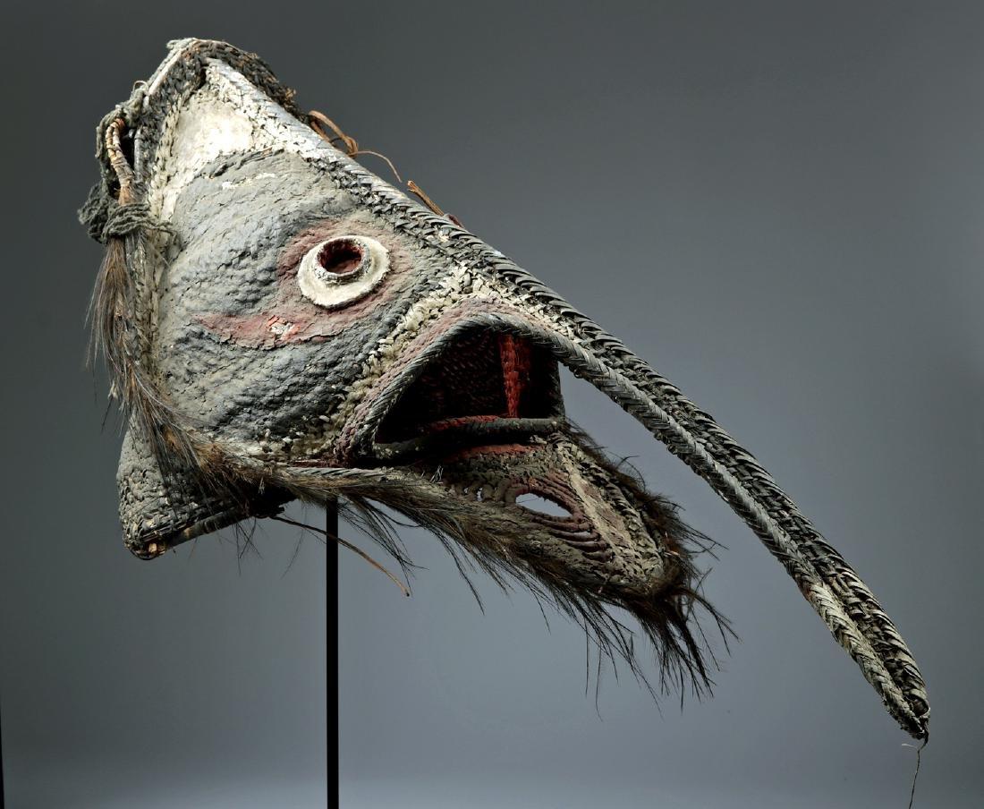 20th C. Papua New Guinea Maira Figure Fiber Mask - 5