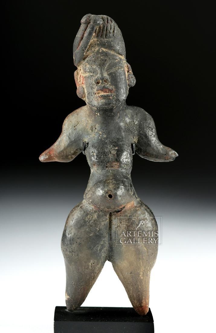 Olmec Tlapacoya Pottery Standing Pregnant Woman