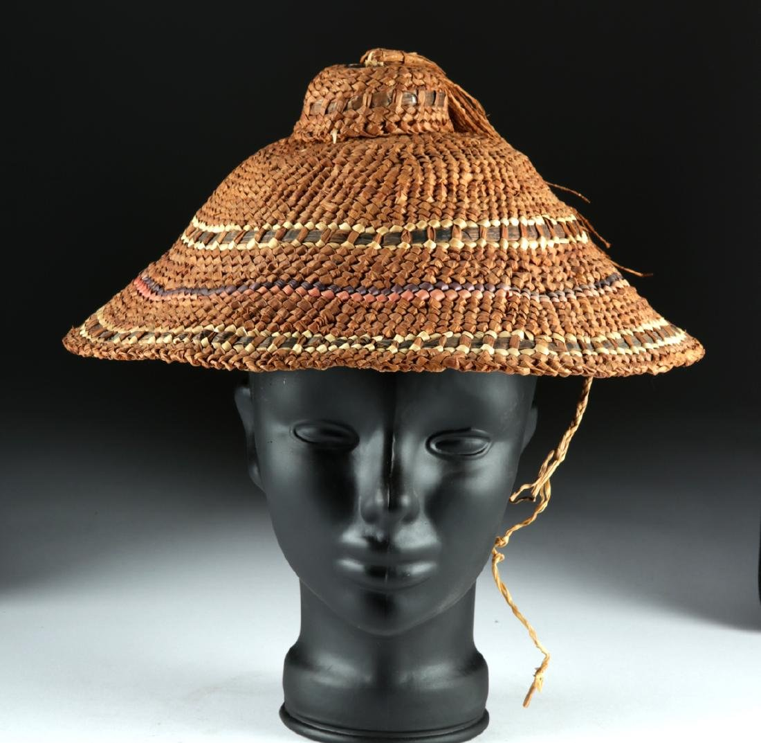 Early 20th C. Makah / Nootka Woven Hat, ex-Bonhams