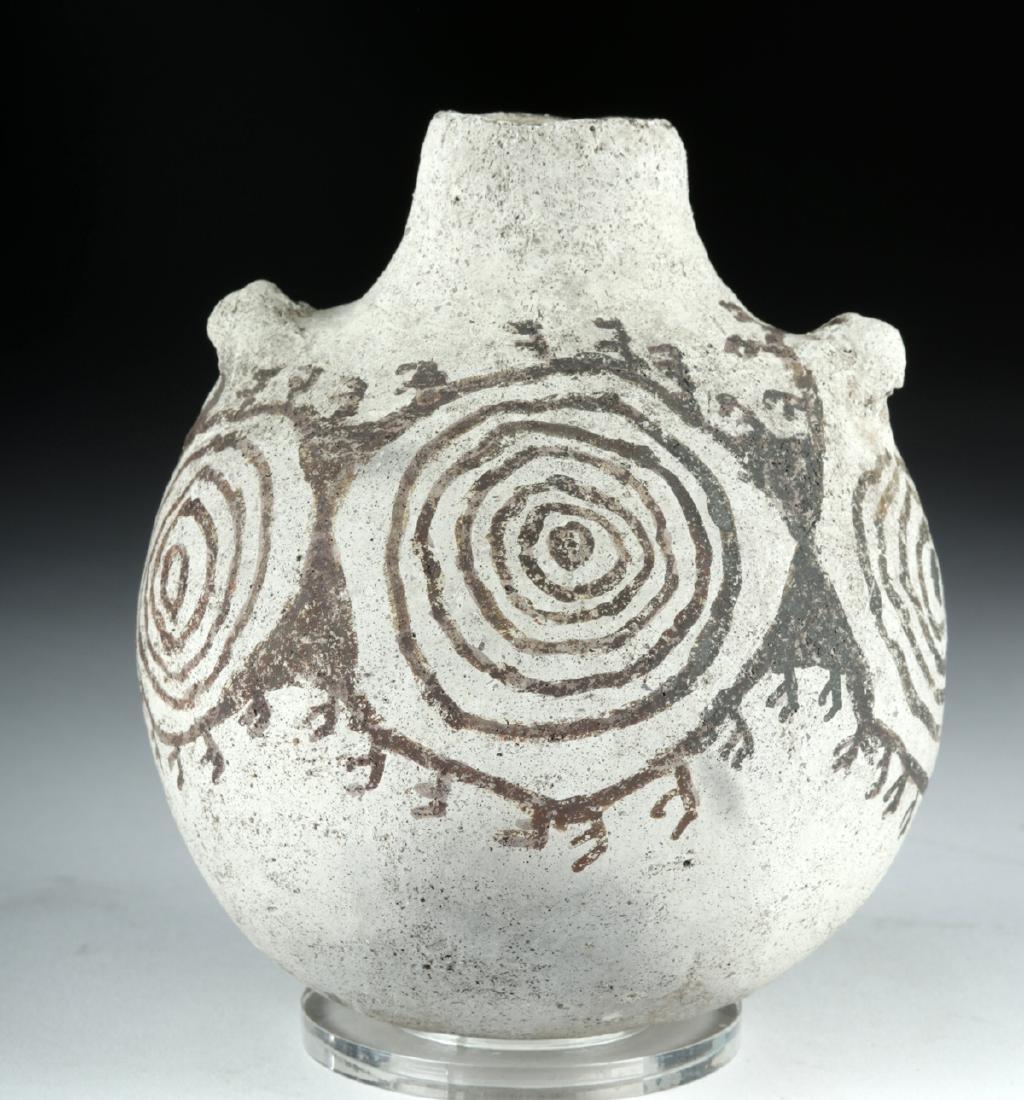 Anasazi / Mimbres Pottery Black-on-White Canteen