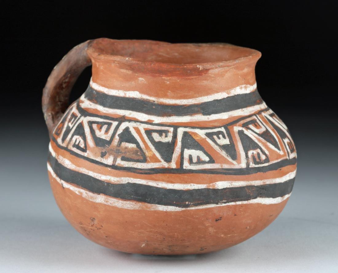 Hopi Homolovi Pottery Handled Mug w/ Geometric Motifs