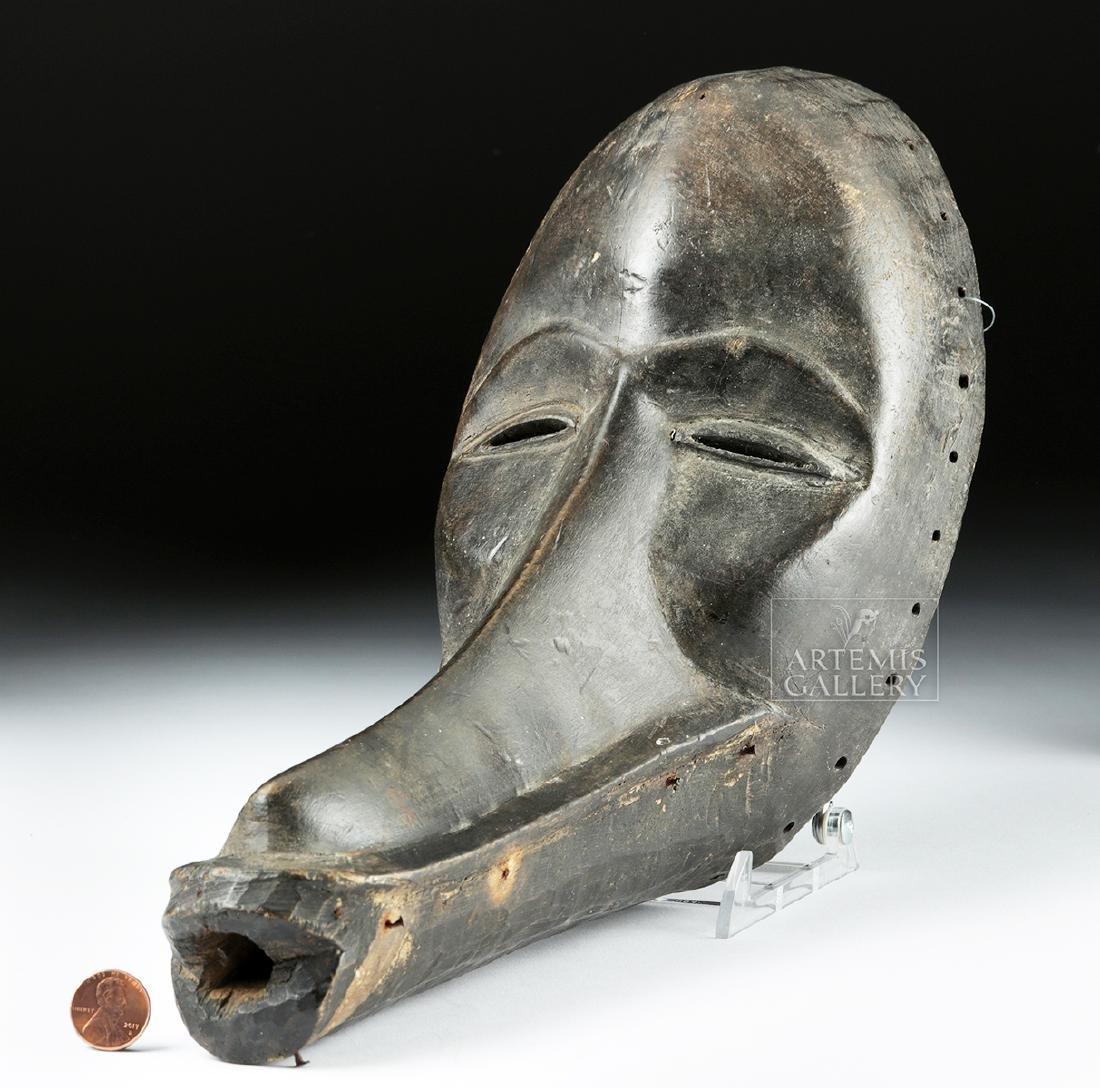 Unusual 20th C. African Dan Wooden Tribal Mask