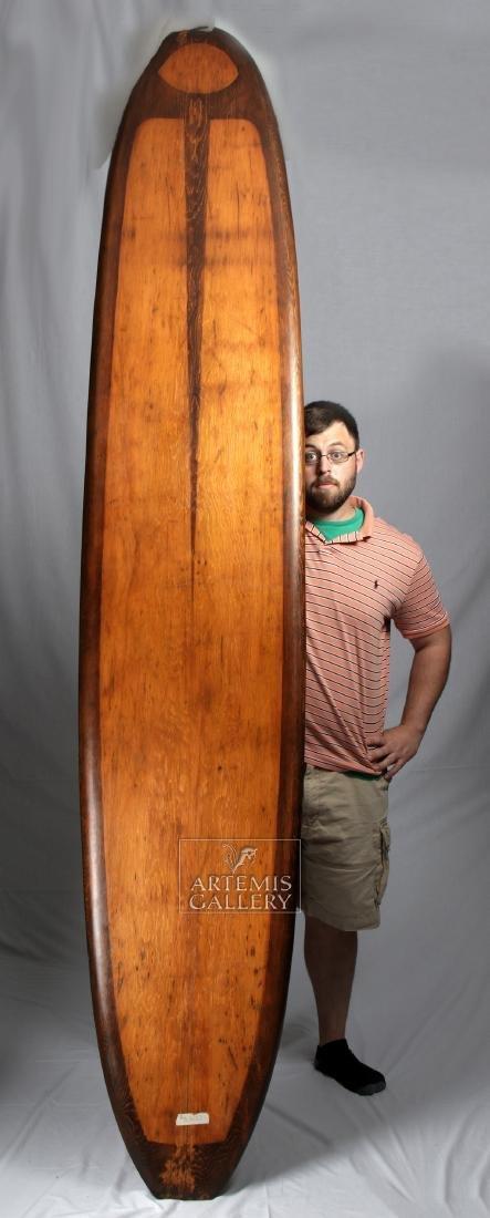 Mid 20th C. Vintage Californian Wooden Surfboard