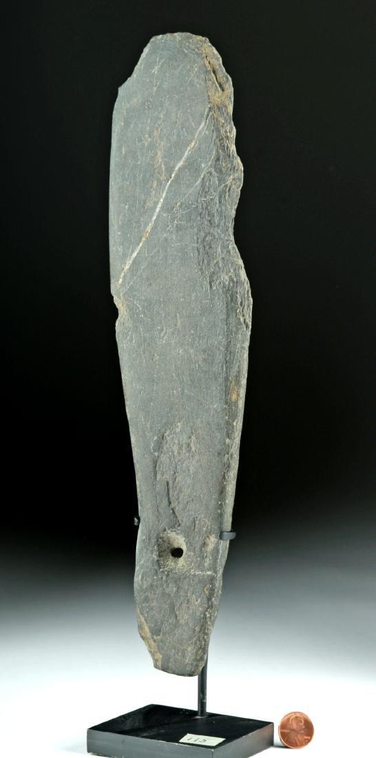 Large 18th C. Maori Stone Patu / Hand Club
