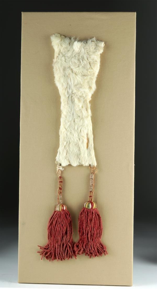 Nazca Coca Bag - White Alpaca Pelt