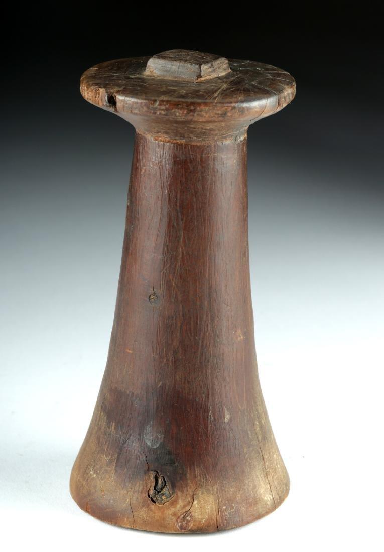 Rare 19th C. Palau Island Wood Poi Pounder