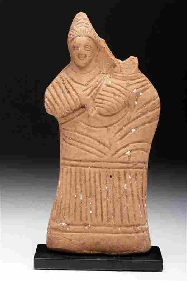 Egyptian Terracotta Harpocrates Figure