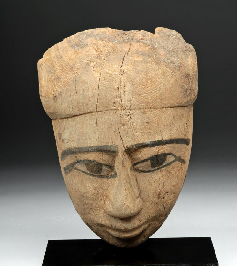 Egyptian Wood Sarcophagus Mask - 2600+ years old