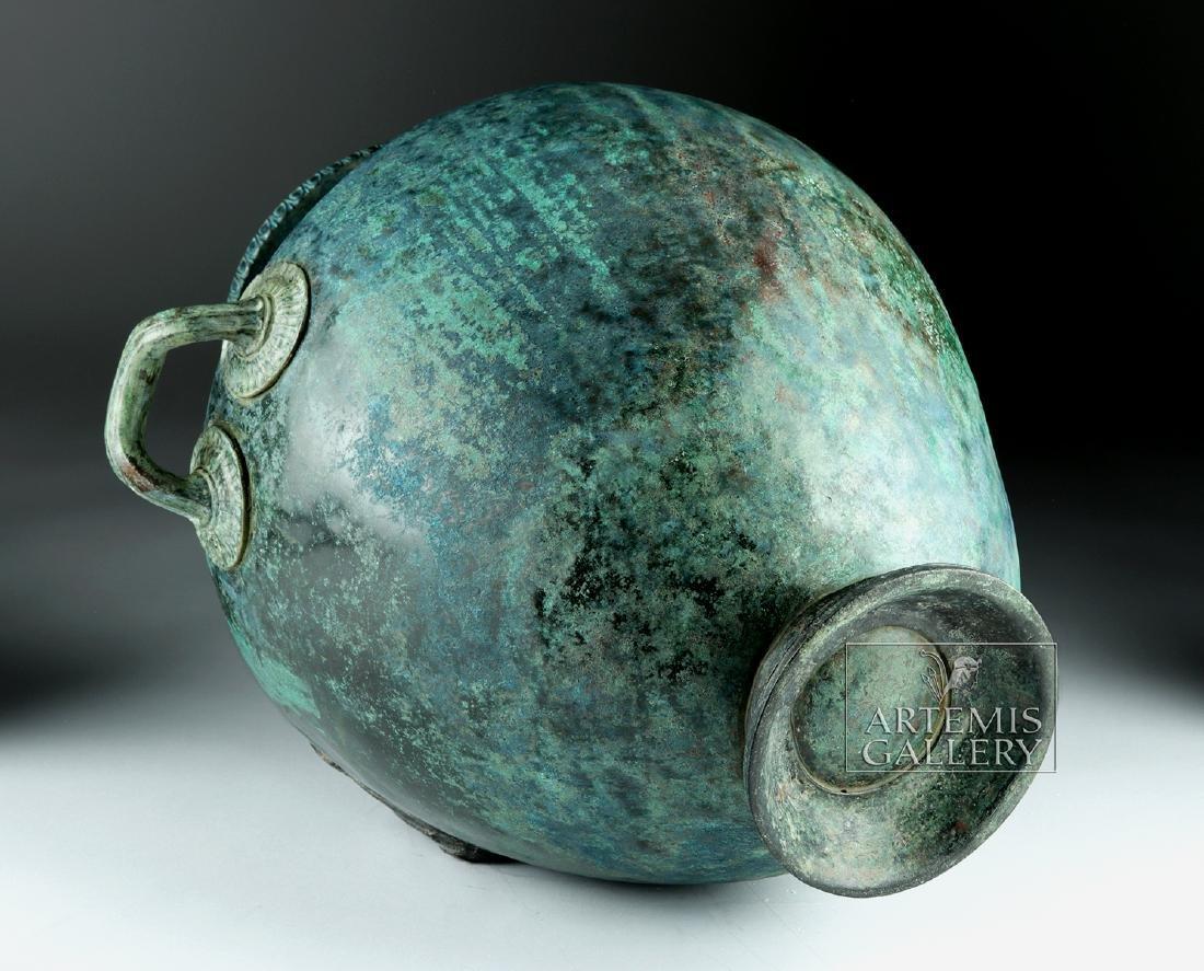 Stunning Greek Bronze Hydria w/ Siren Handle - 7