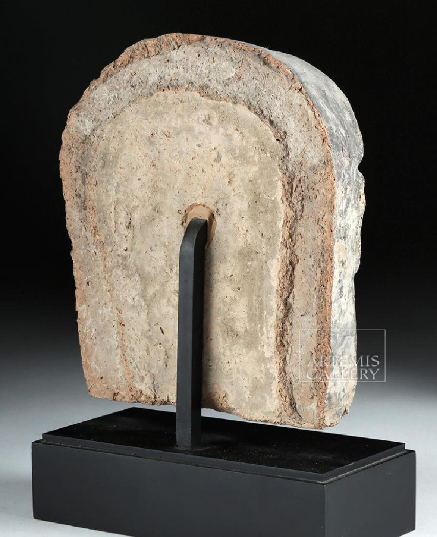 Etruscan Polychrome Terracotta Antefix of Woman - 5
