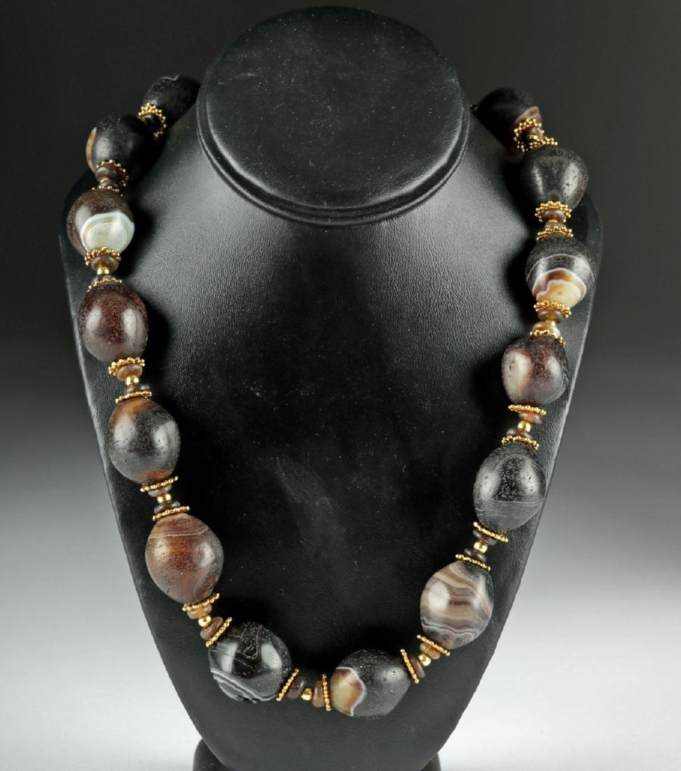 Beautiful Persian Achaemenid Agate Necklace