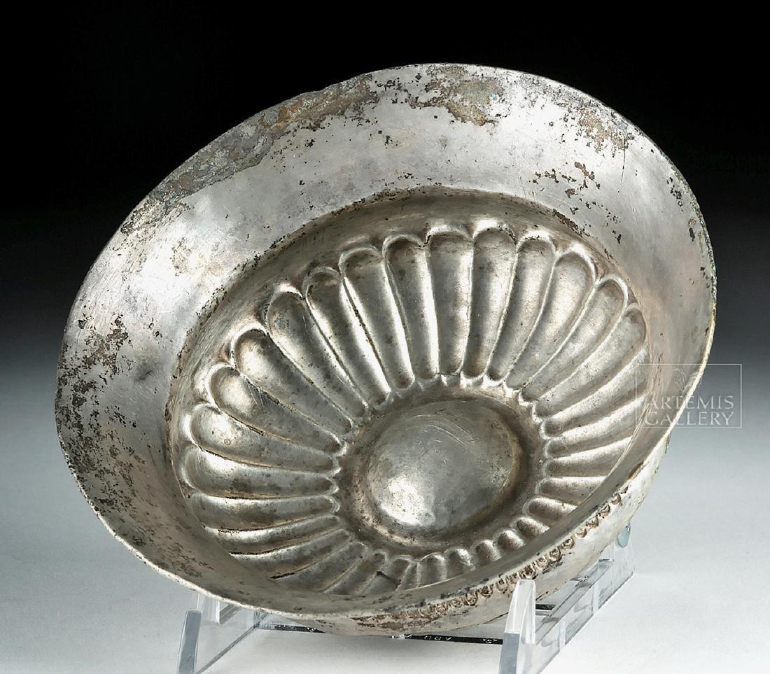 Persian Achaemenid Silver Bowl w/ Omphalos - 181 grams