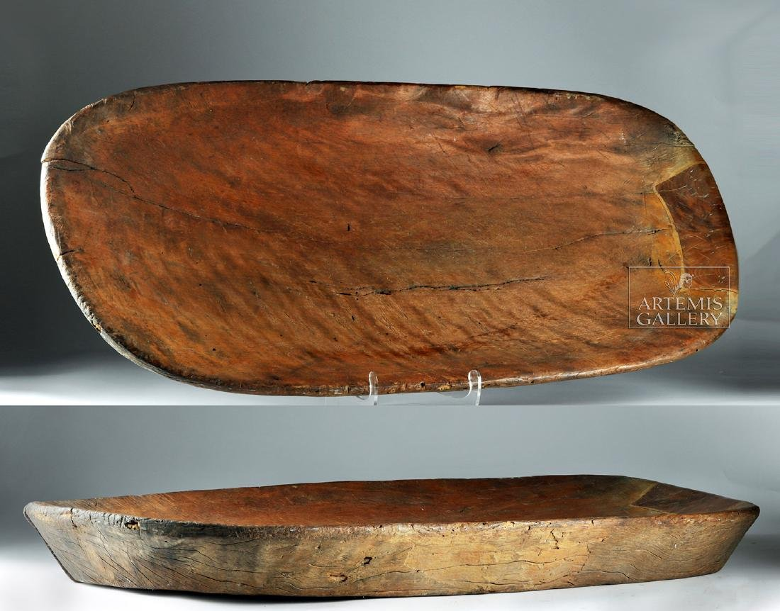 Large Early 20th C. Hawaiian Wooden Poi Platter