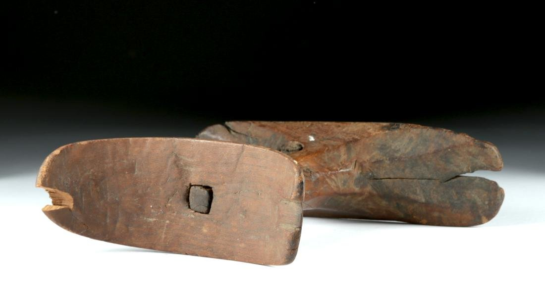 Egyptian New Kingdom Wooden Headrest - 5