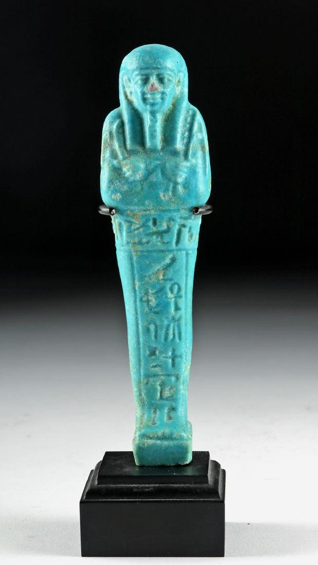 Egyptian 26th Dynasty Faience Ushabti
