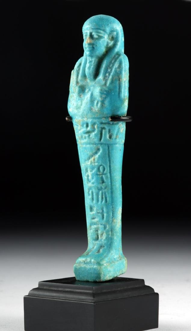 Egyptian 26th Dynasty Faience Ushabti - 3