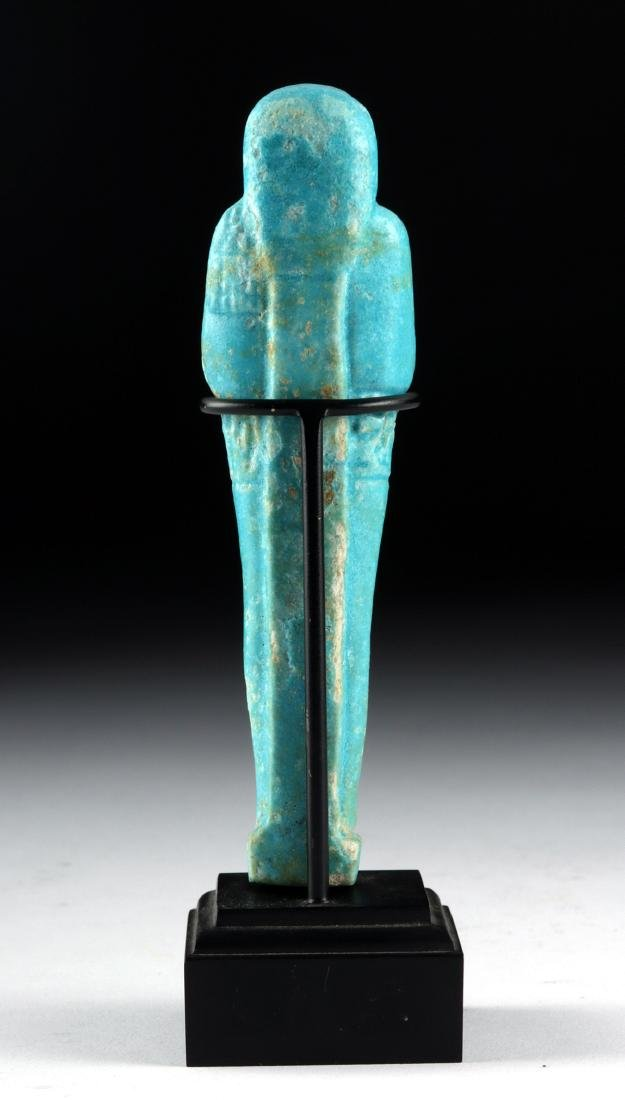 Egyptian 26th Dynasty Faience Ushabti - 4