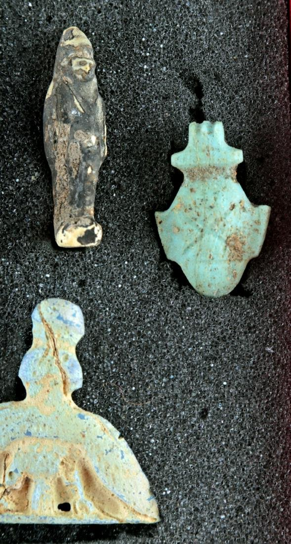 Collection of 42 Egyptian Faience Amulets - 3
