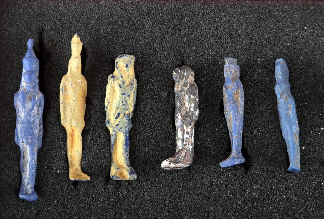Collection of 42 Egyptian Faience Amulets - 5