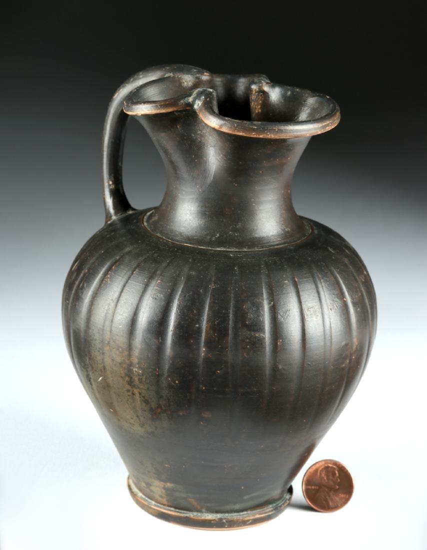 Greek Apulian / Campanian Blackware Oinochoe - 2