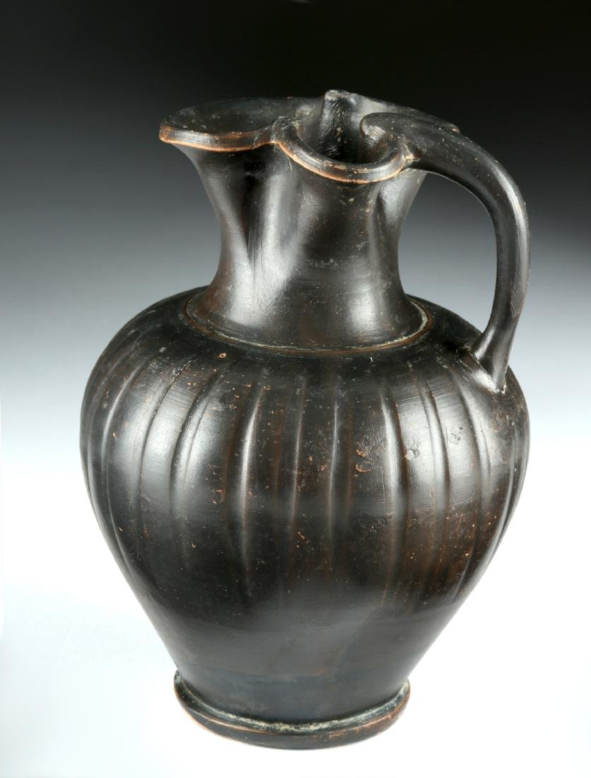 Greek Apulian / Campanian Blackware Oinochoe - 4