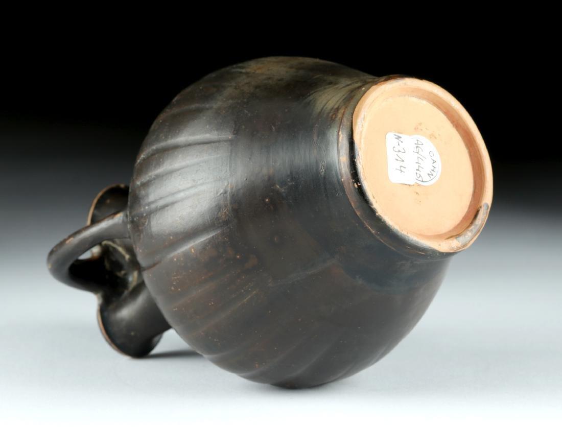 Greek Apulian / Campanian Blackware Oinochoe - 6