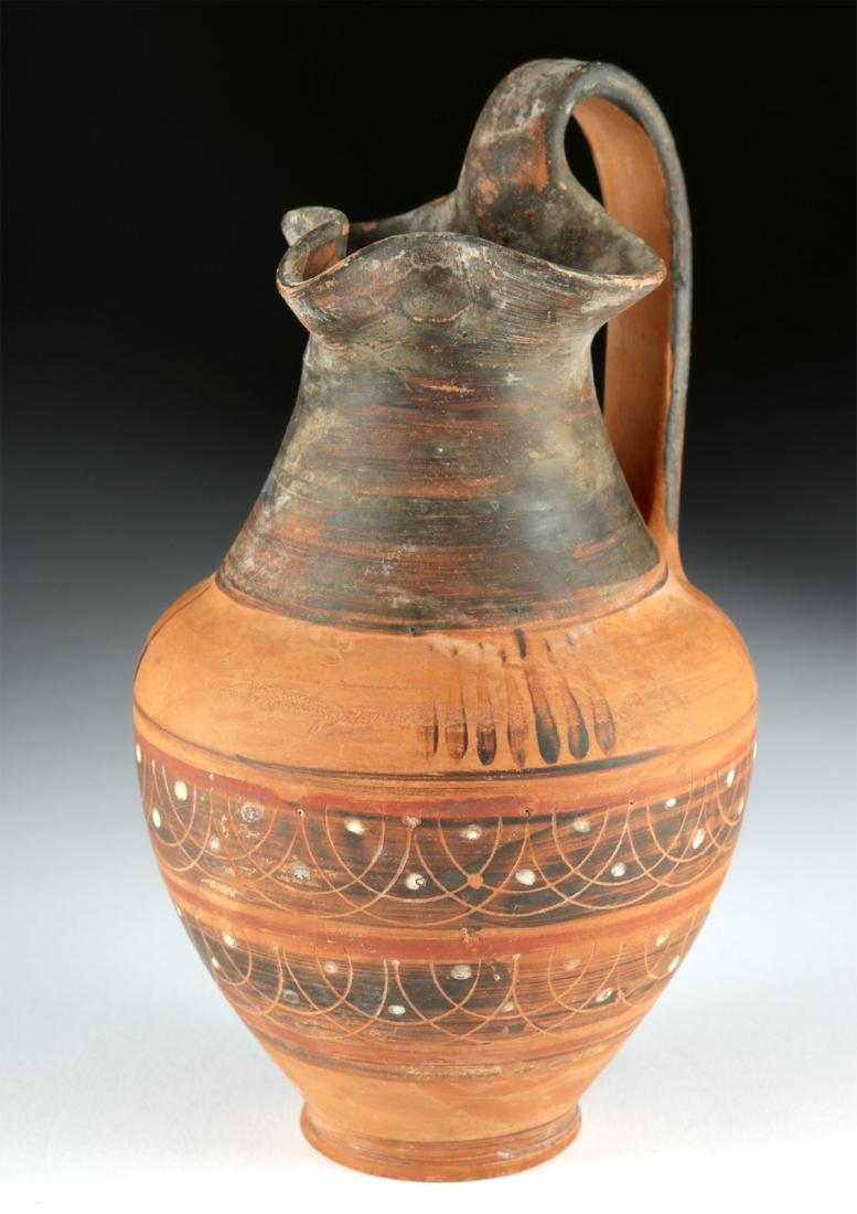 Etrusco Corinthian Trefoil Oinochoe - Lovely Decoration - 2