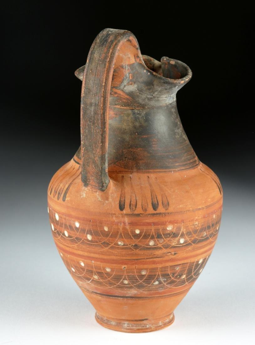 Etrusco Corinthian Trefoil Oinochoe - Lovely Decoration - 3