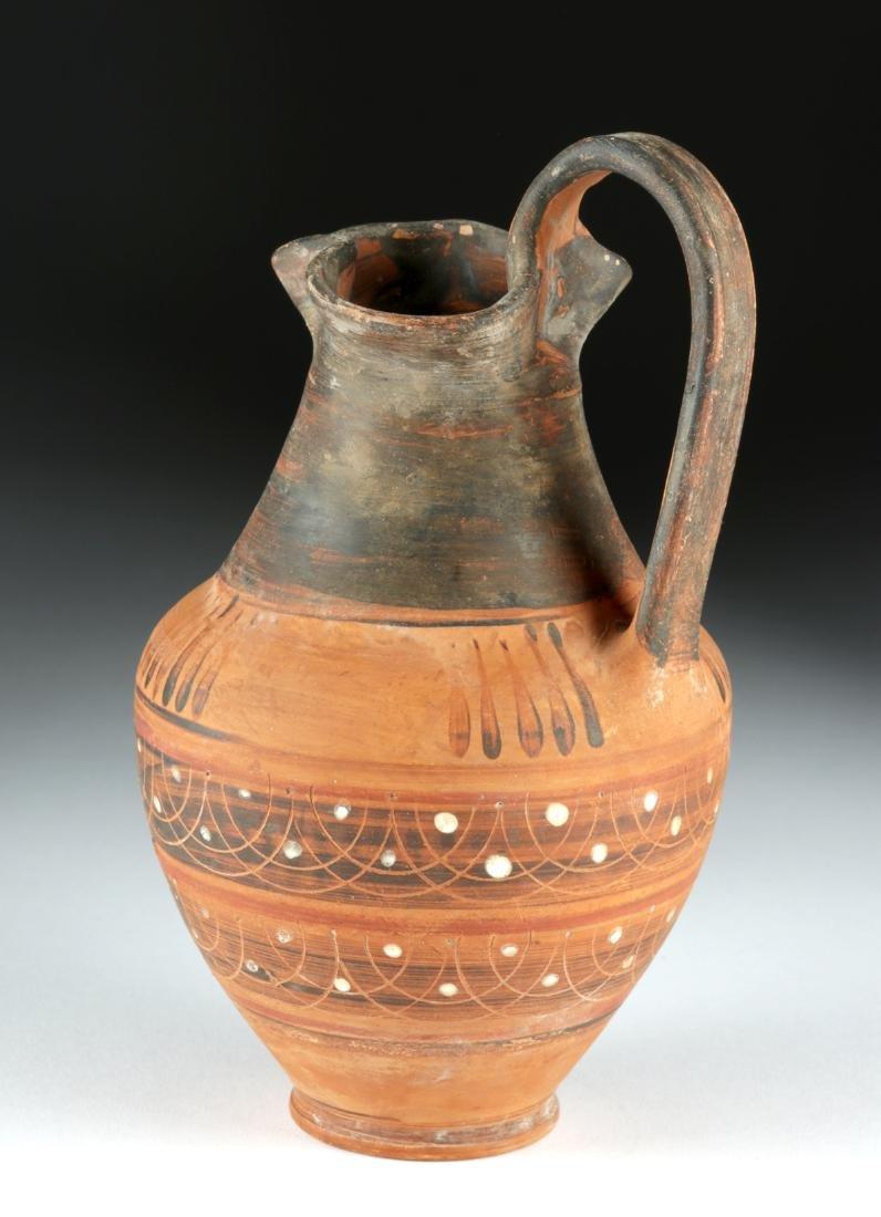 Etrusco Corinthian Trefoil Oinochoe - Lovely Decoration - 4