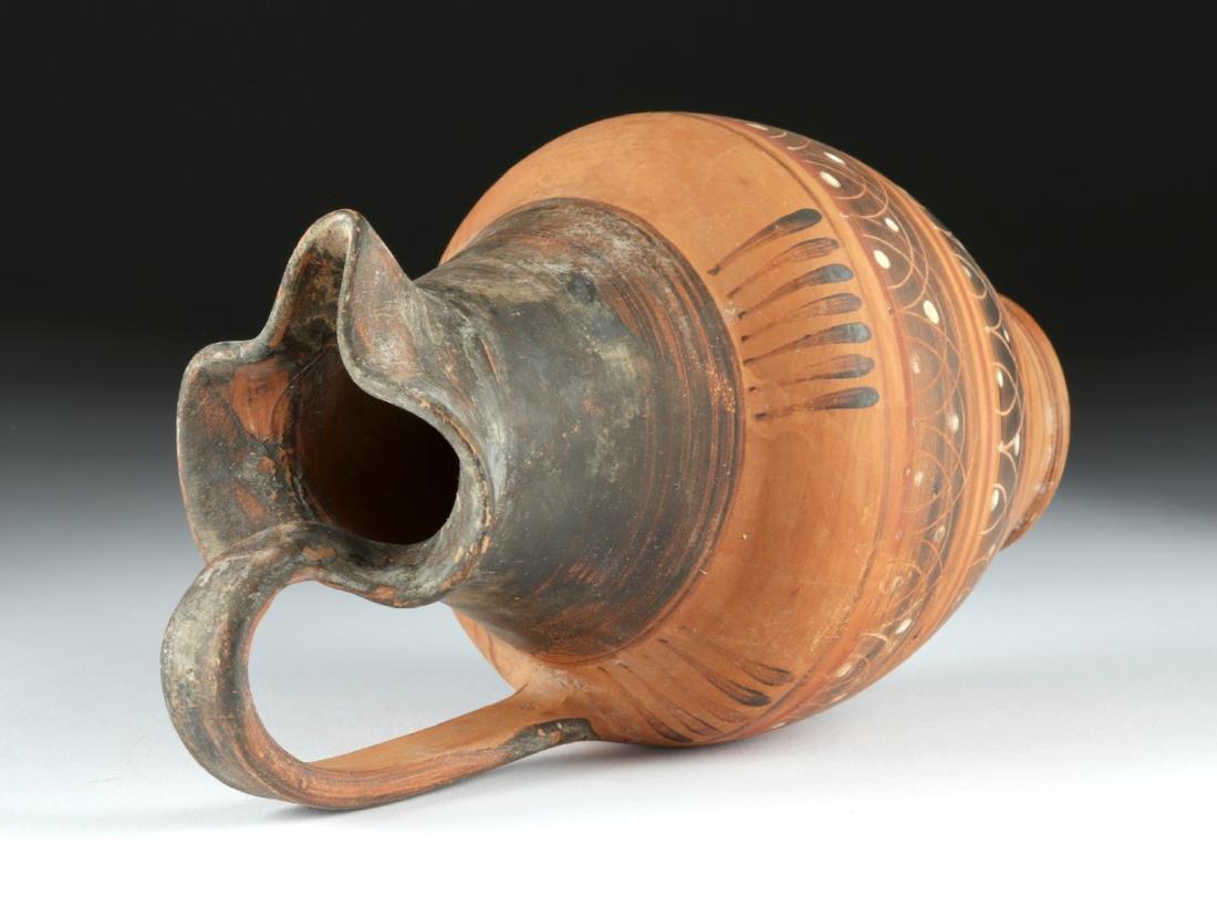 Etrusco Corinthian Trefoil Oinochoe - Lovely Decoration - 5