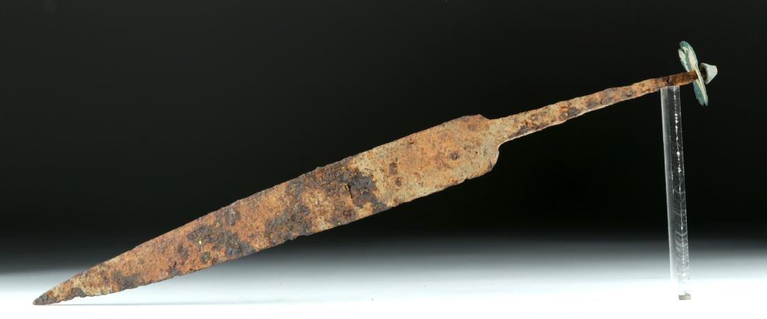 Celtic-Romano Iron Dagger w/ Bronze Pommel