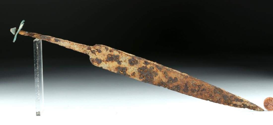 Celtic-Romano Iron Dagger w/ Bronze Pommel - 4