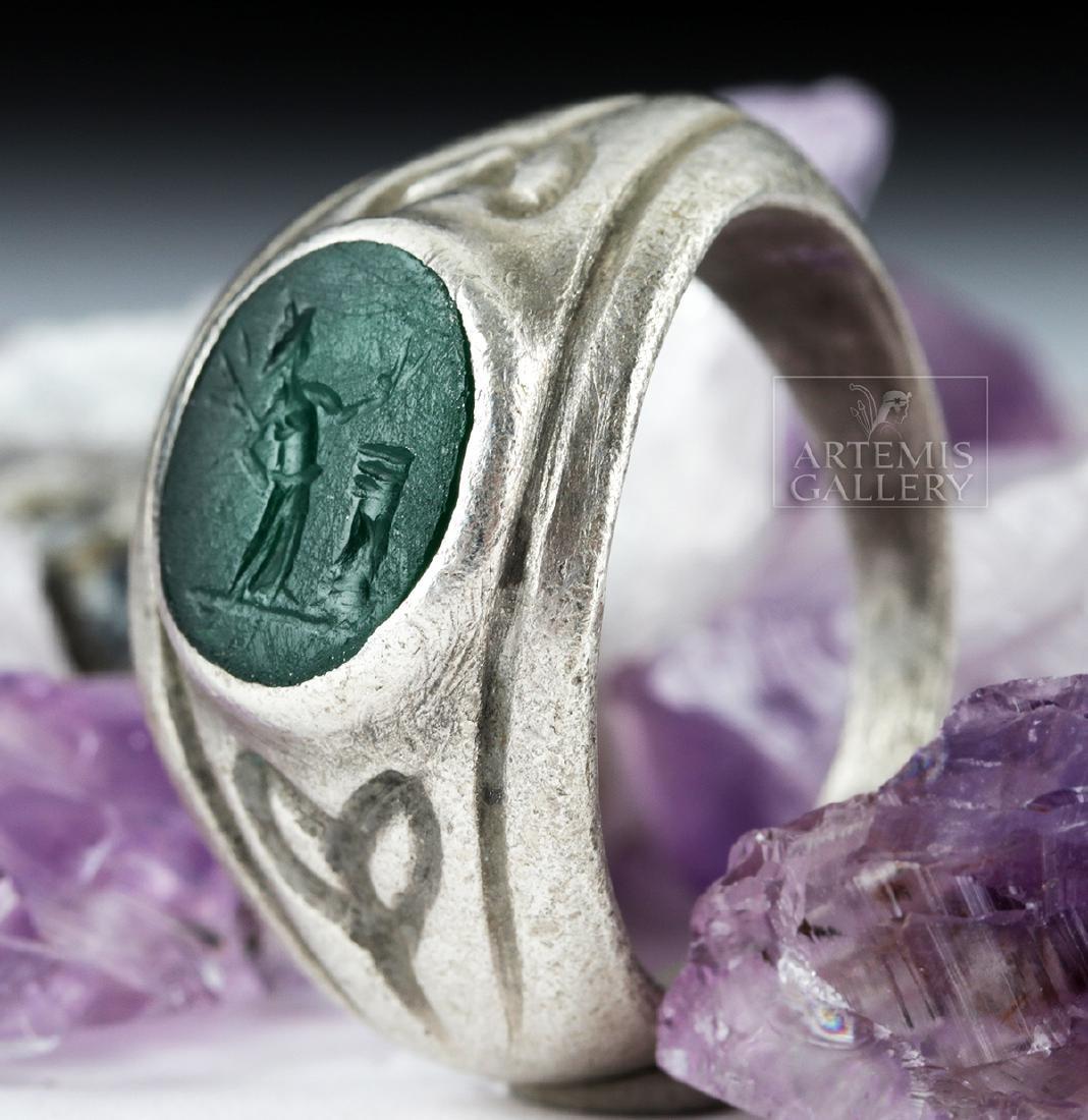 Roman Silver Ring w/ Jasper Intaglio - 9.1 g