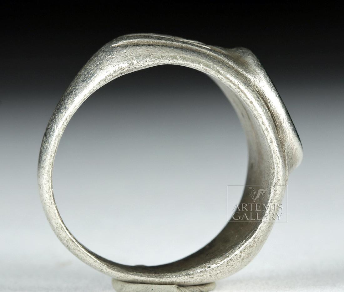 Roman Silver Ring w/ Jasper Intaglio - 9.1 g - 4