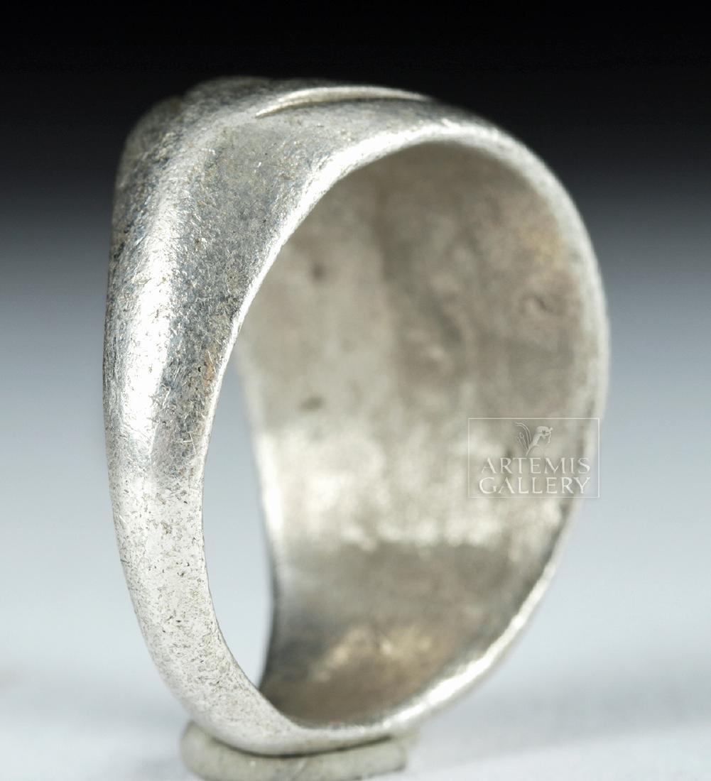 Roman Silver Ring w/ Jasper Intaglio - 9.1 g - 5