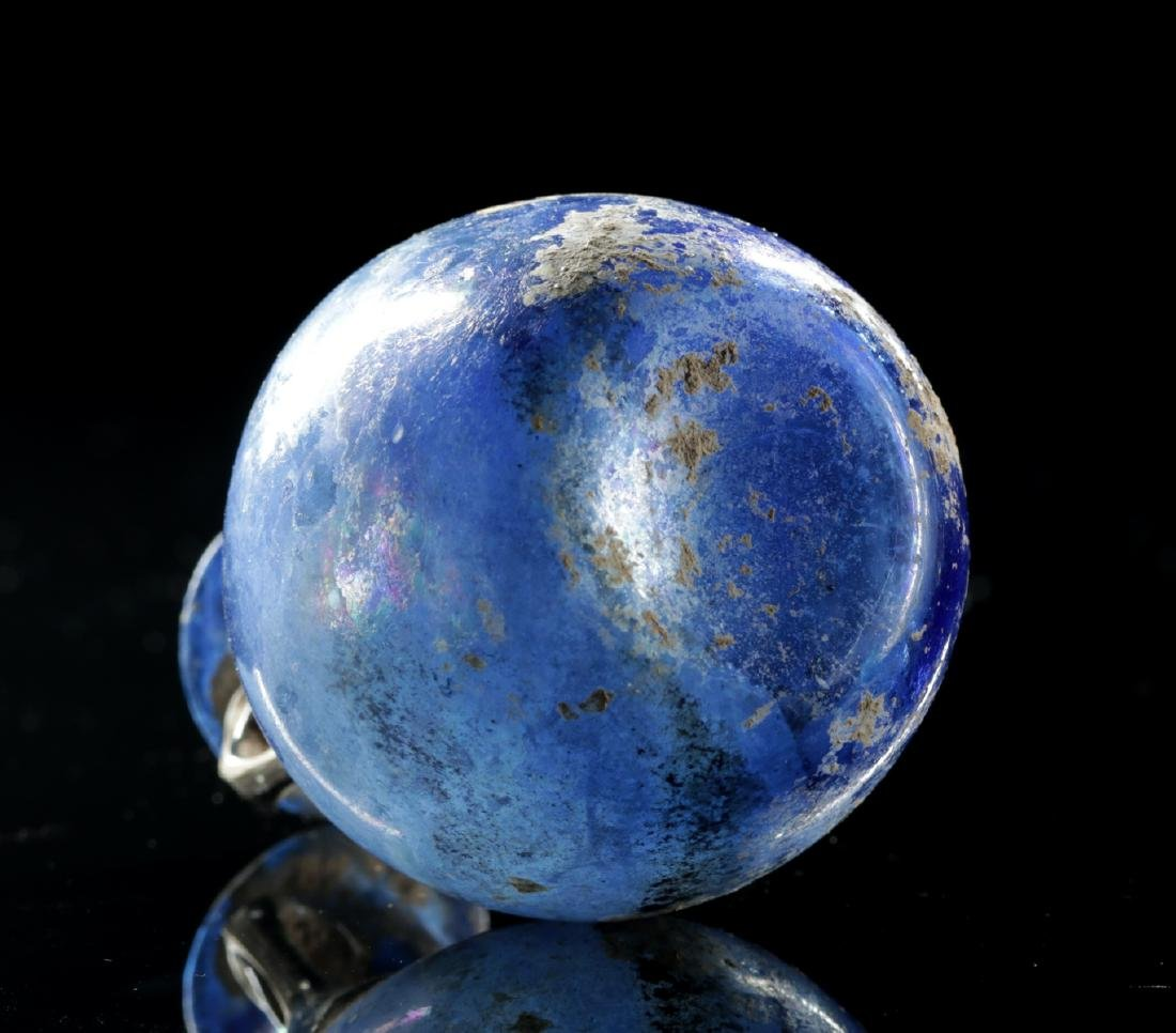 Beautiful Roman Glass Ampulla - Cobalt Blue - 5