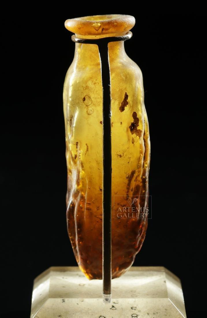 Miniature Roman / Sidonian Glass Date Flask - 4