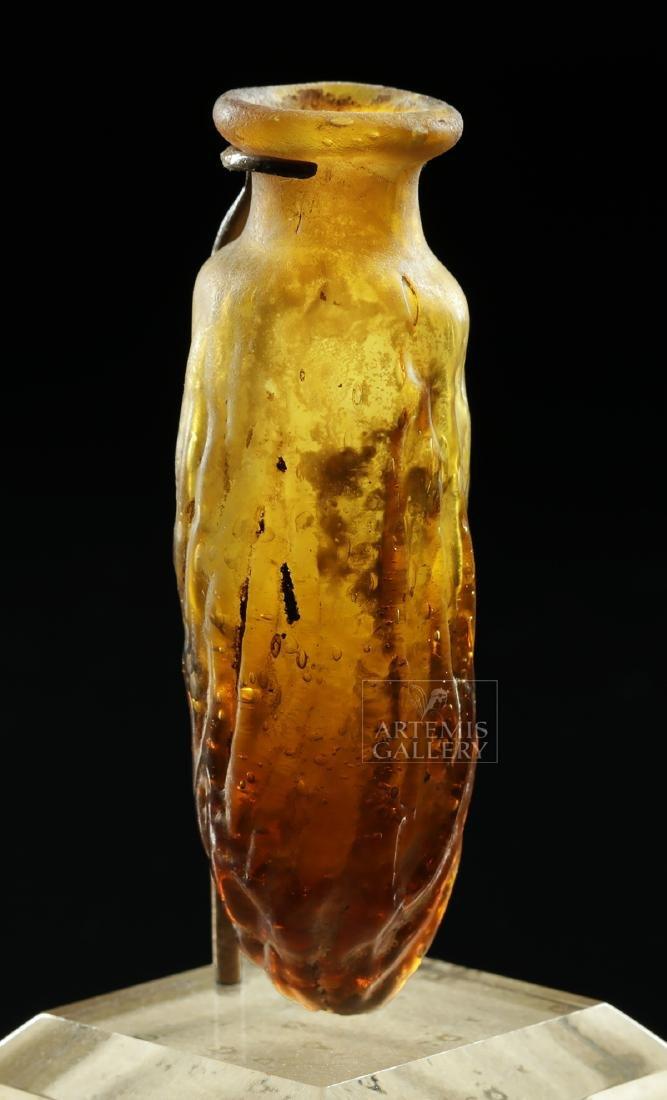 Miniature Roman / Sidonian Glass Date Flask - 5